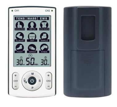 Dvokanalni TENS, EMS i masažer sa 78 predefiniranih programa. Preglednog ekrana i jednostavan za uporabu. Uređaj je vrlo lagan i prikladan za prenošenje, samo 140 grama uključujući baterije.