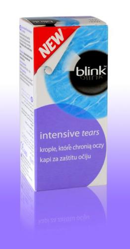 Blink™ intensive kapi posebno su formulirane da štite i opuštaju suhe, iritirane ili izrazito umorne oči.